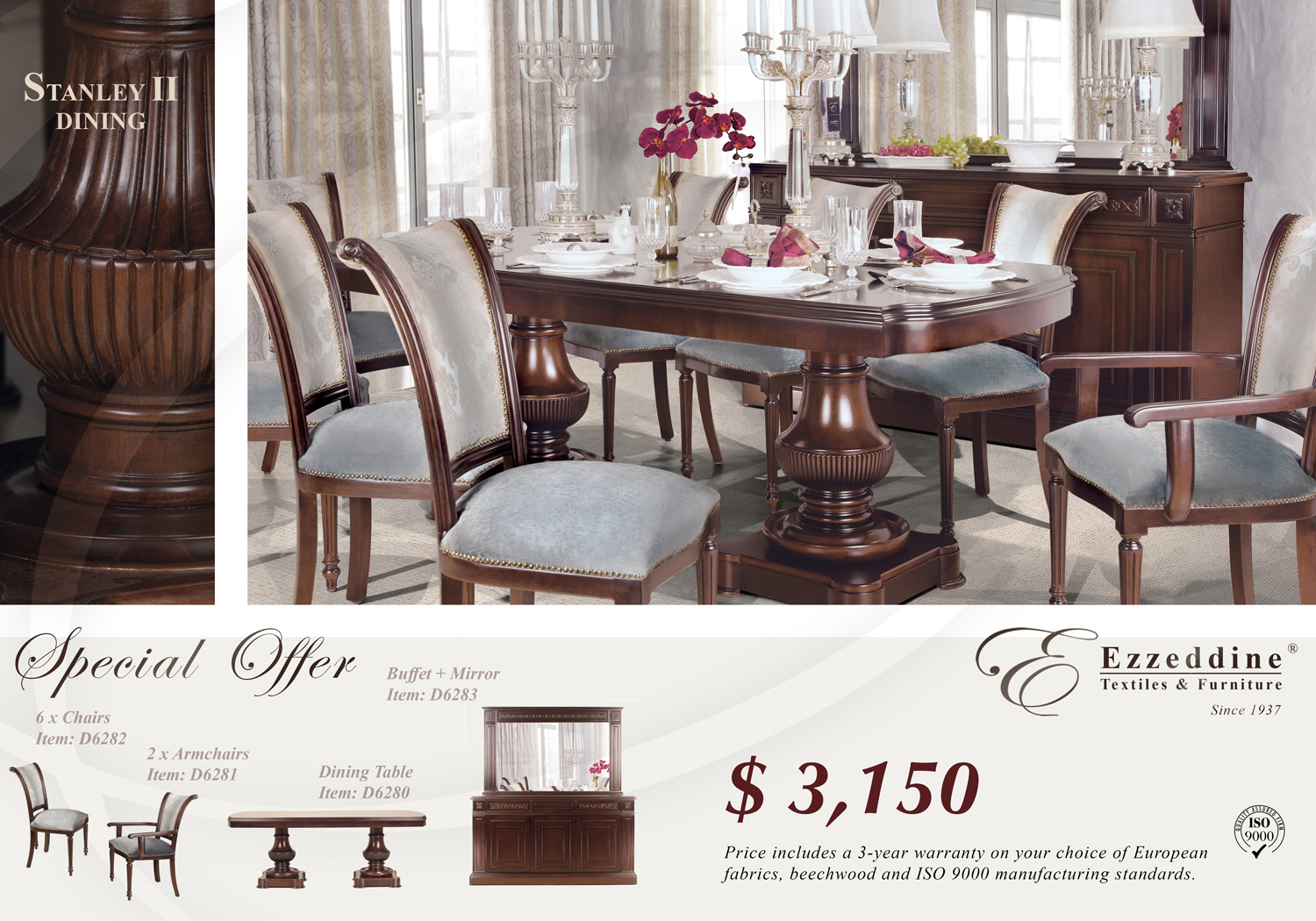 Limited Time Offer - Dining Room - Only $3,150 - 10 Piece Set Dining Room