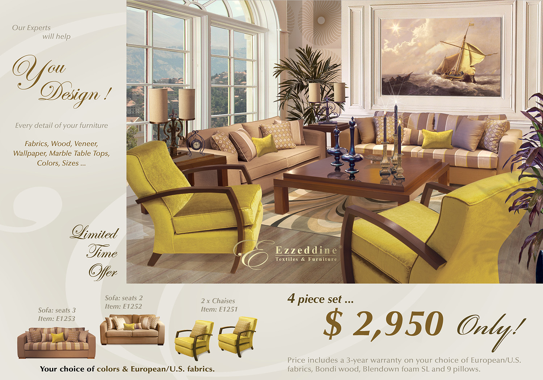 Limited Time Offer - Living Room - Only $2,950 - 4 Piece Set Living Room